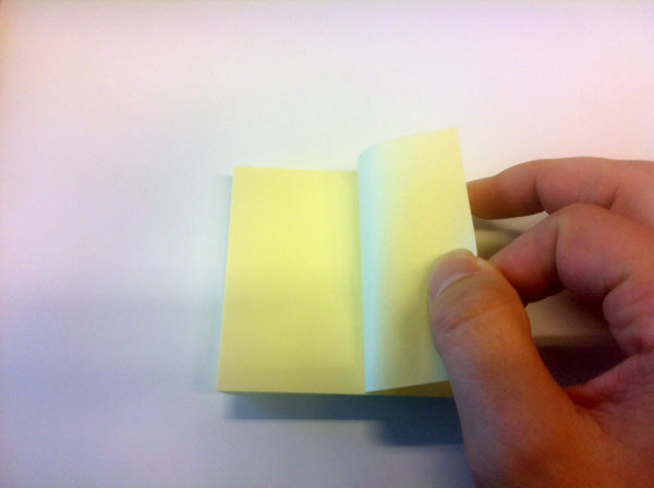 How to peel off a Sticky Note